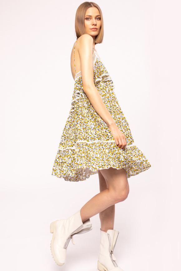 Rochie cu bretele subtiri si print floral