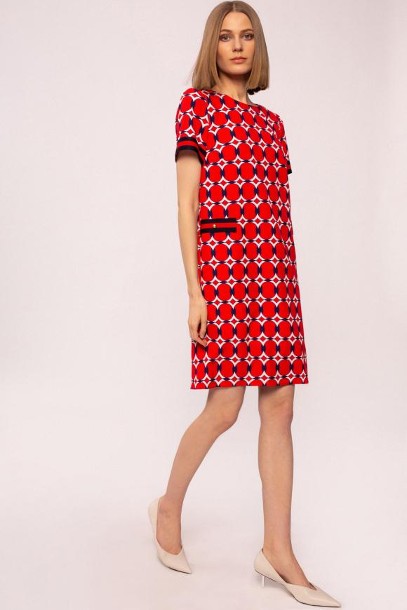 Rochie dreapta cu imprimeu