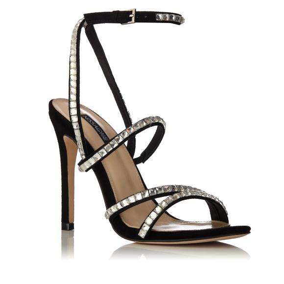 Sandale cu aplicatie de cristale