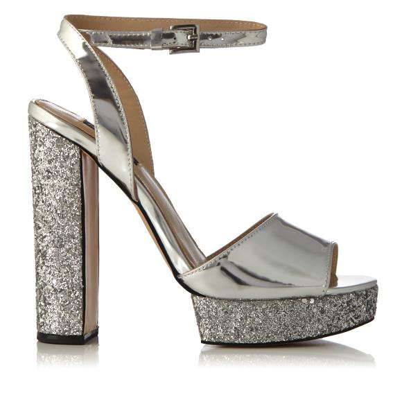 Sandale cu glitter si platforma