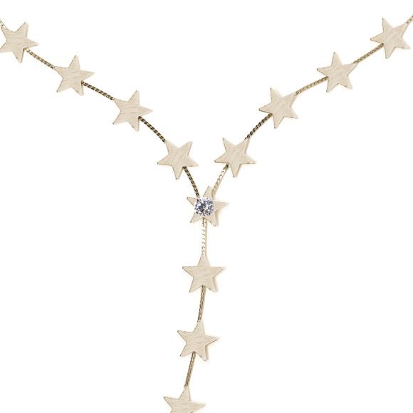 Colier texturat cu stele aurii