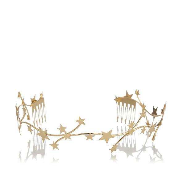 Bentita metalica cu stele aurii