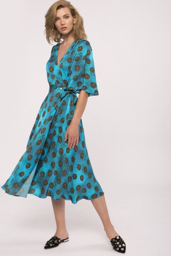 Viscose wrap front dress