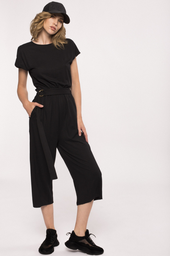 Cotton jumpsuit with pockets