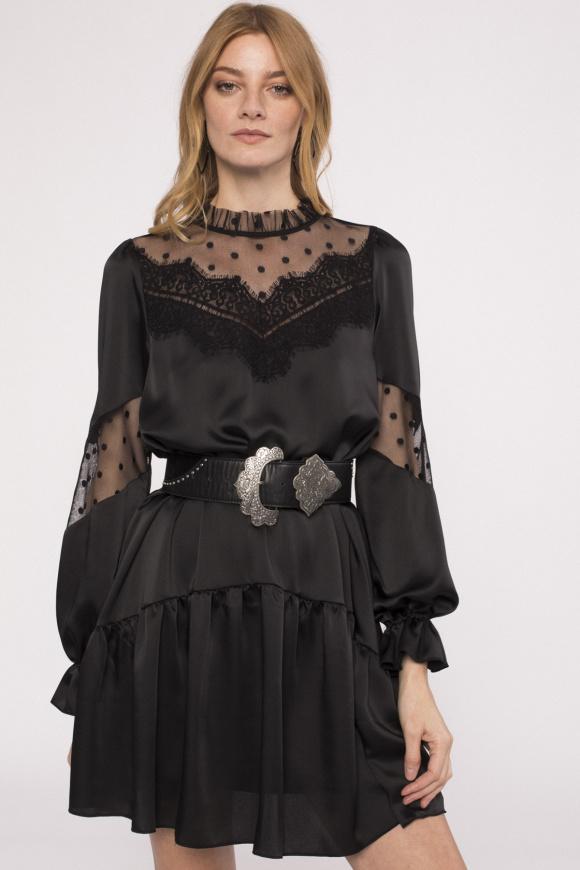 Satin effect mini dress