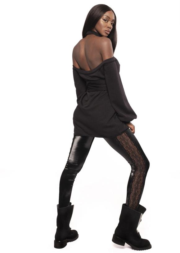 Rochie din bumbac cu spatele gol