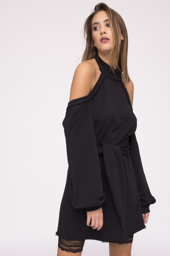 Backless cotton dress
