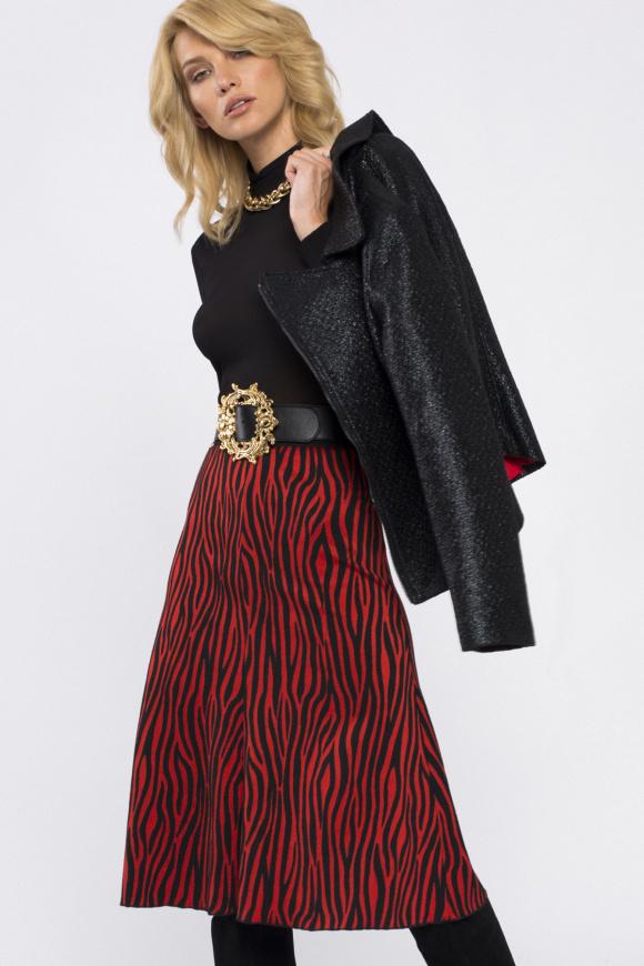 Zebra-print skirt