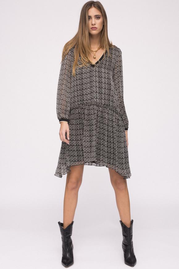 V-neck printed dress