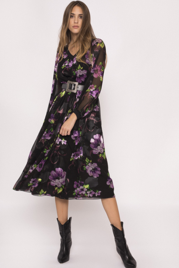 Floral print viscose dress