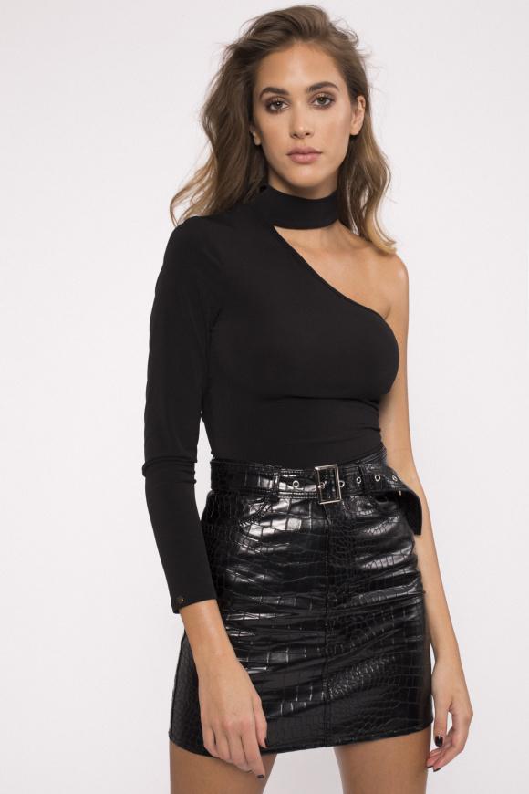 Asymmetrical design bodysuit