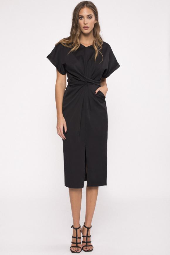 Cotton-poplin dress