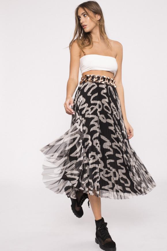 Printed tulle skirt