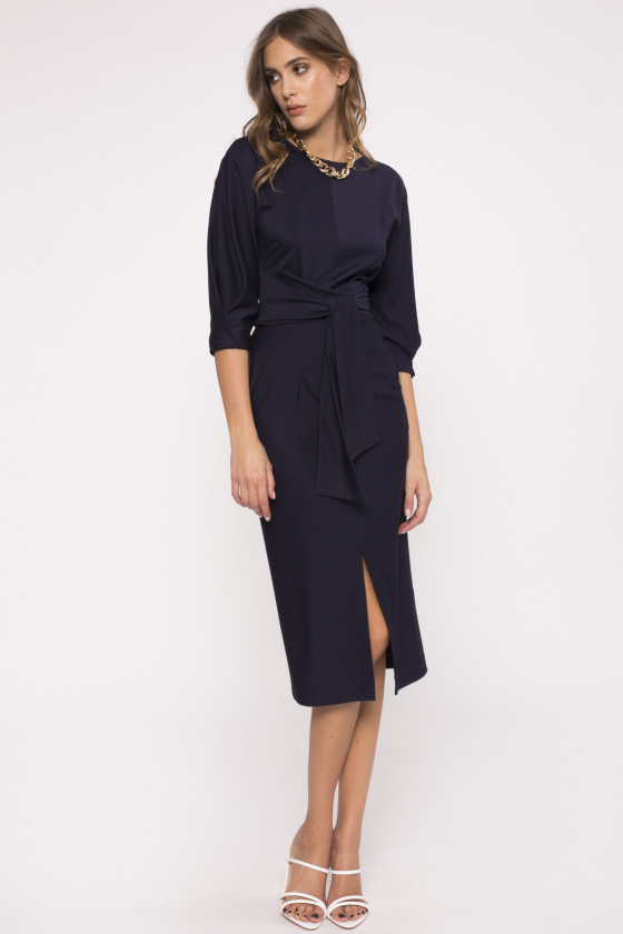 Puff sleeve fitted dress