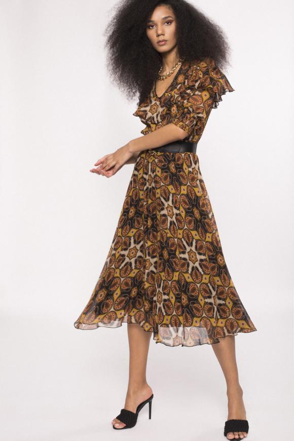 Rochie din vascoza cu imprimeu