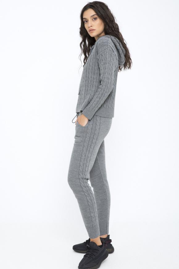 Pantaloni tricotati cu buzunare