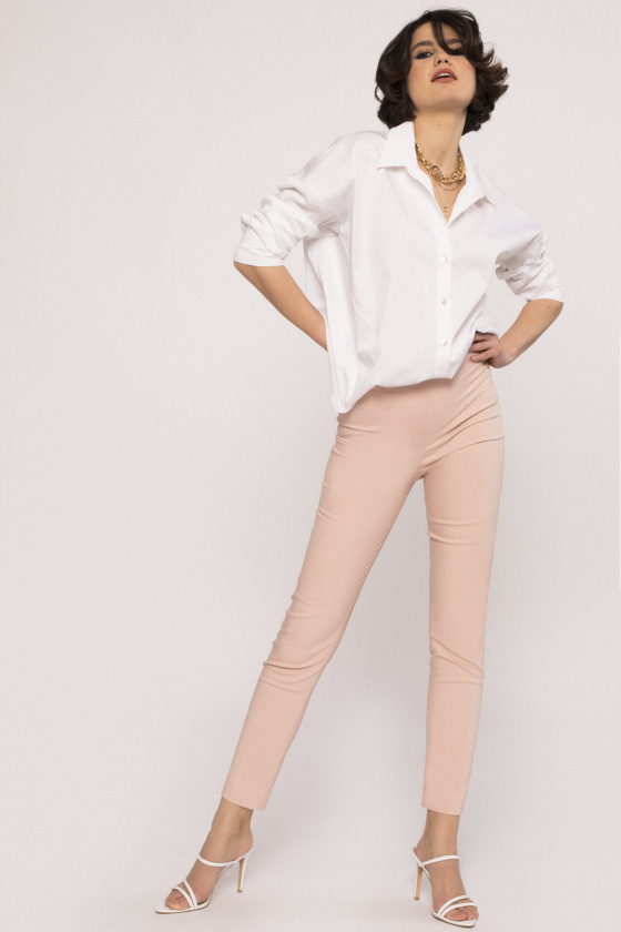 Cotton-poplin pants