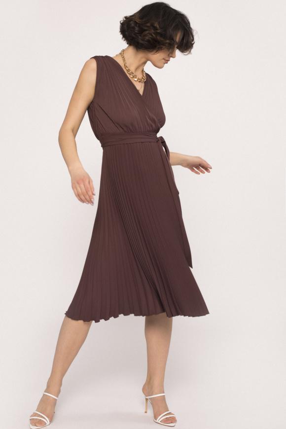 Rochie plisata cu decolteu in V