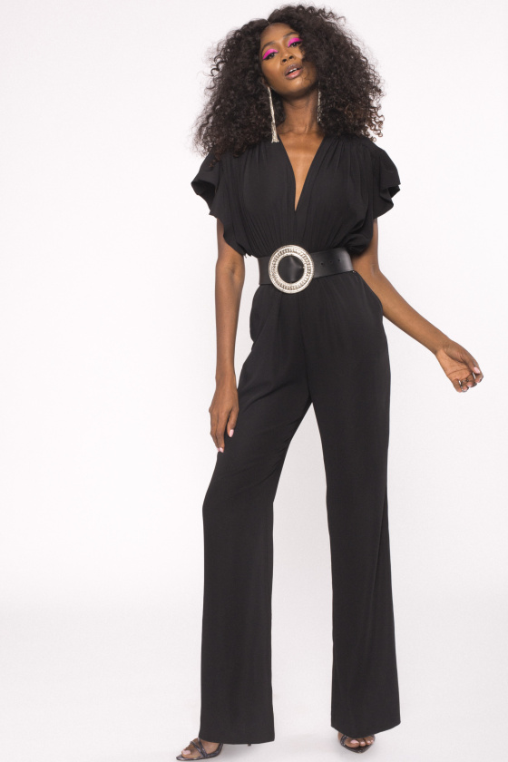 Side pockets jumpsuit