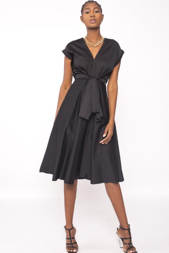 V-neck poplin dress