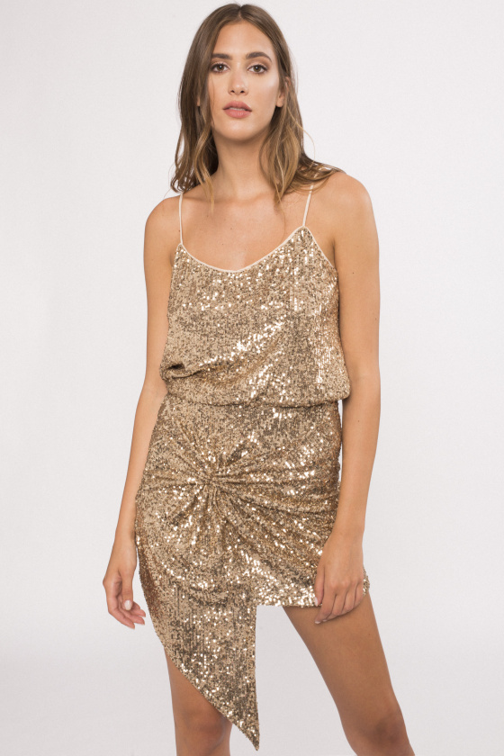 Sequined high-rise skirt