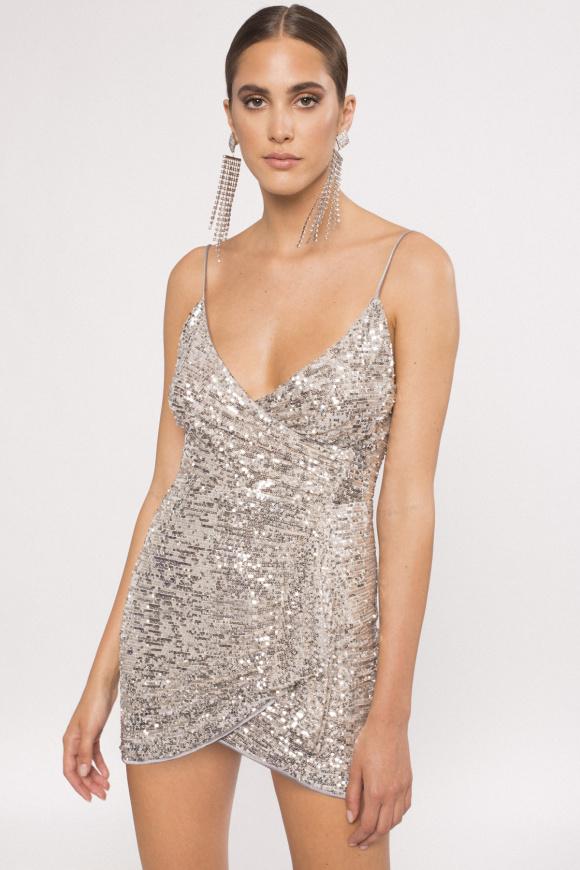 Sequinned mini dress