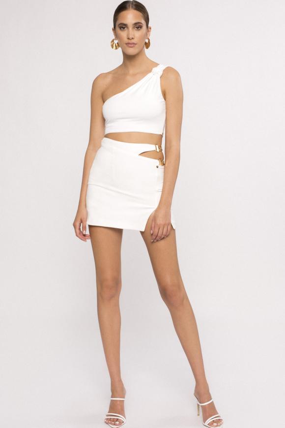 Chain detail mini skirt