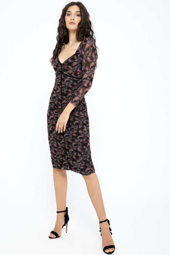 Printed tulle dress