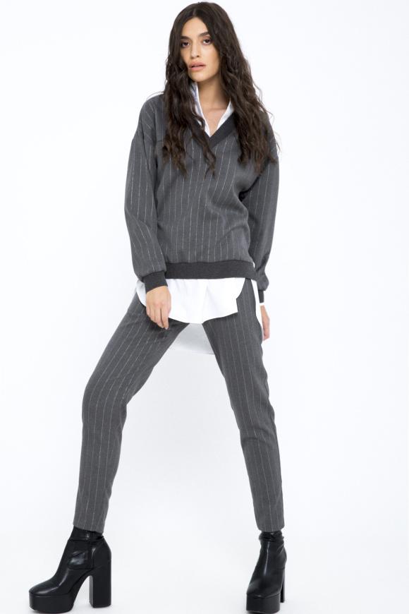 Lurex thread pants