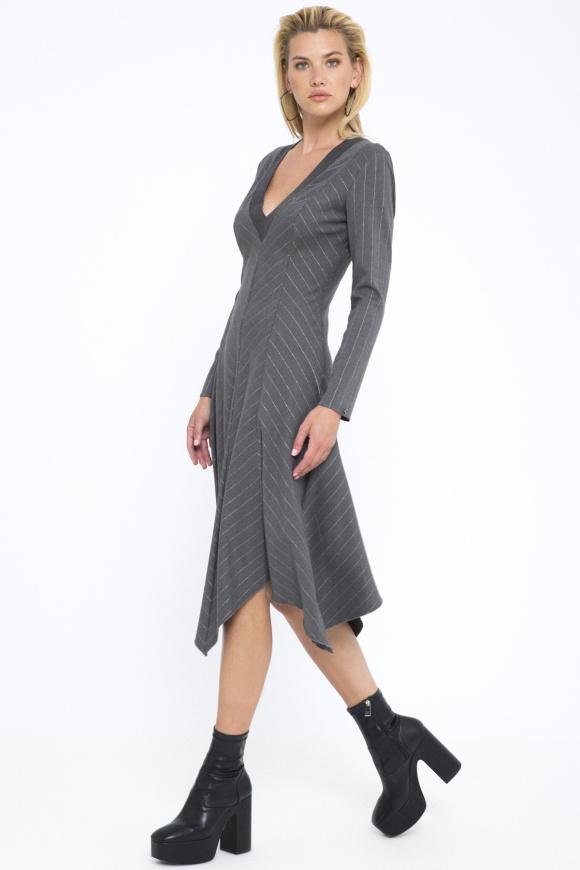 Lurex thread midi dress
