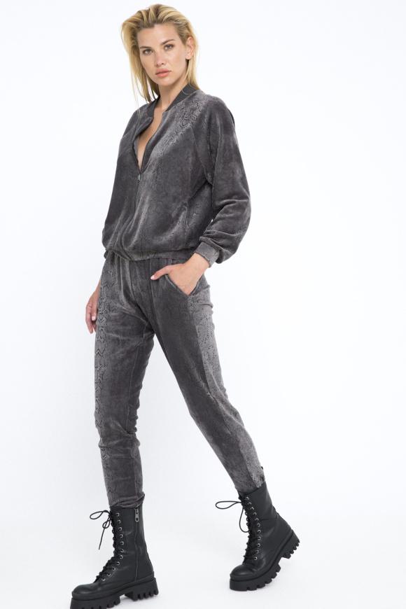 Pantaloni jogger din catifea