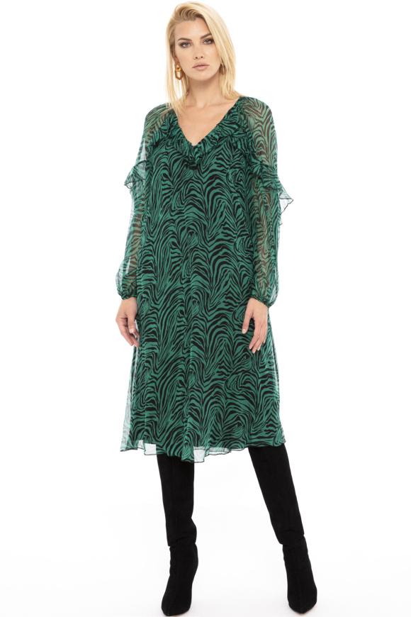 Zebra-print silk dress