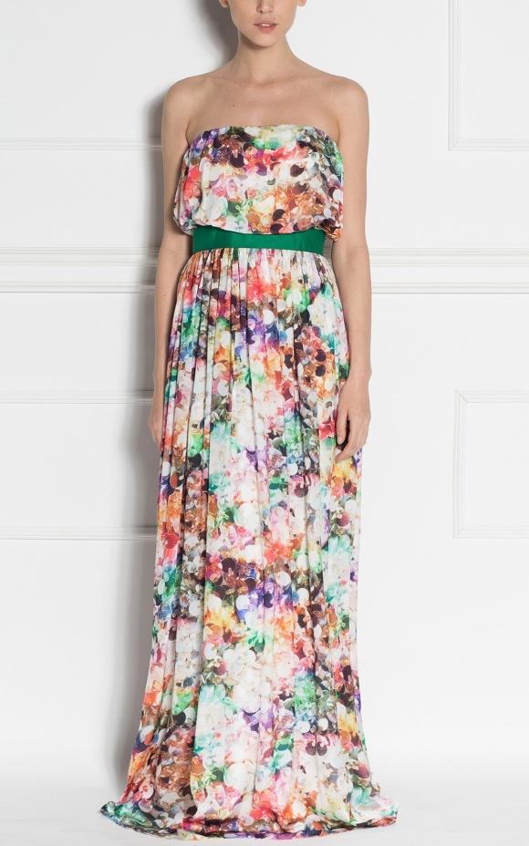 Long evening dress with print