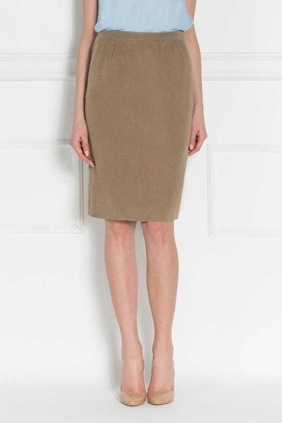 Linen pencil skirt
