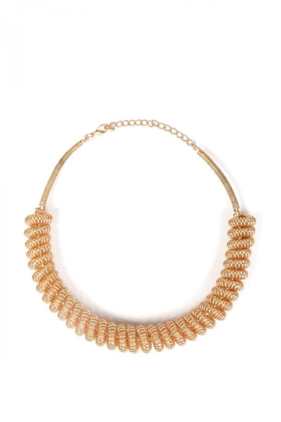 Colier auriu cu spirala