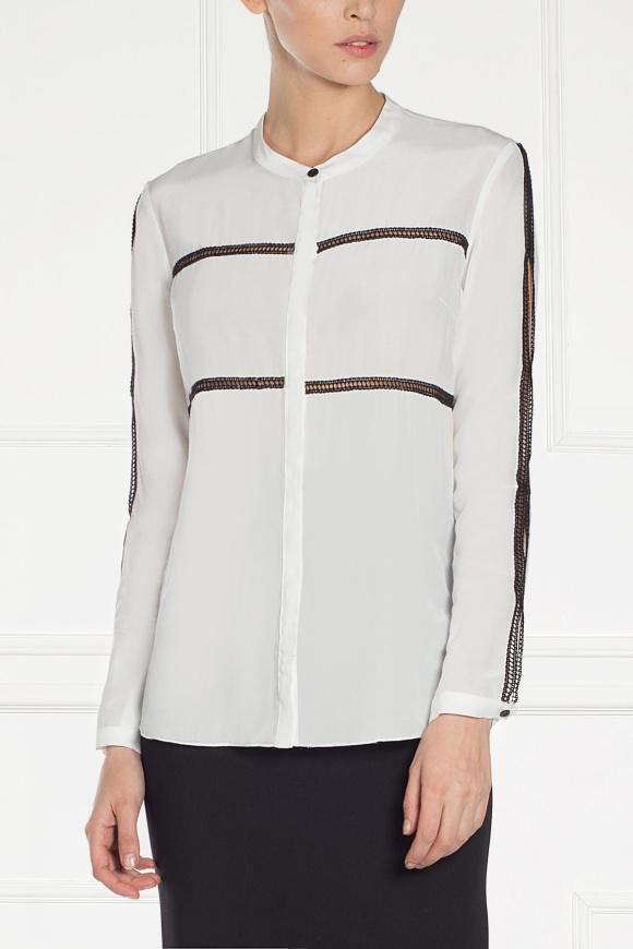 Split-side white shirt