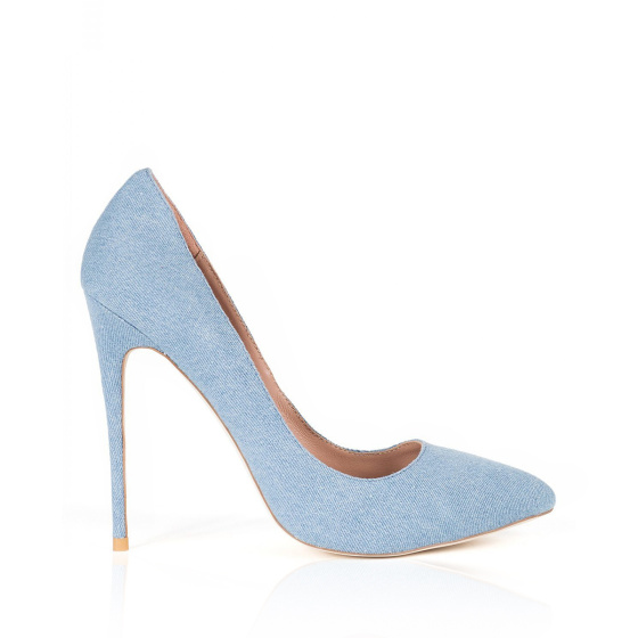 Pantofi stiletto din denim