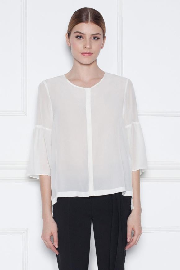 Flared sleeves shirt