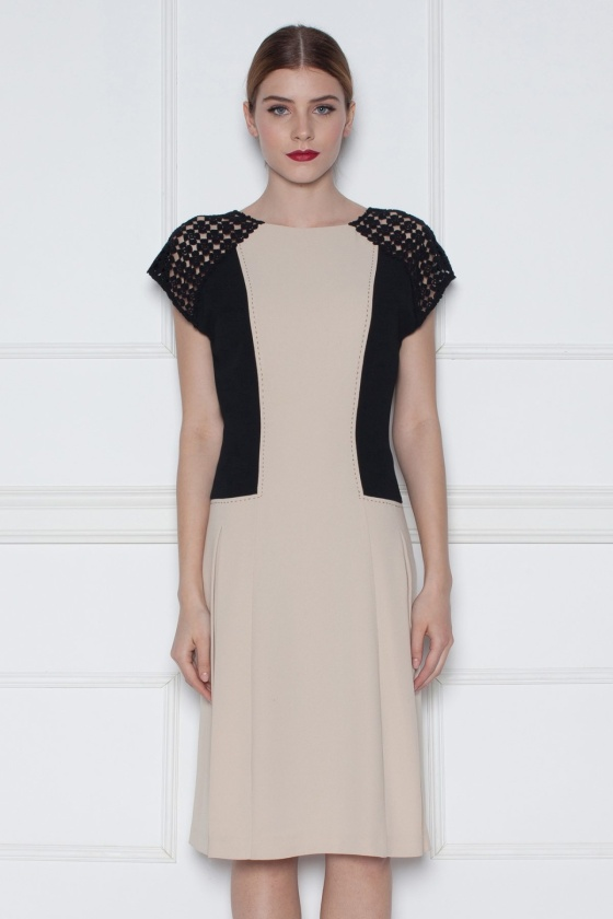 Cocktail dress with lace sleeves