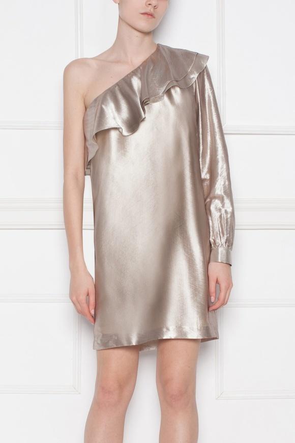 Evening Dress with metallic shades