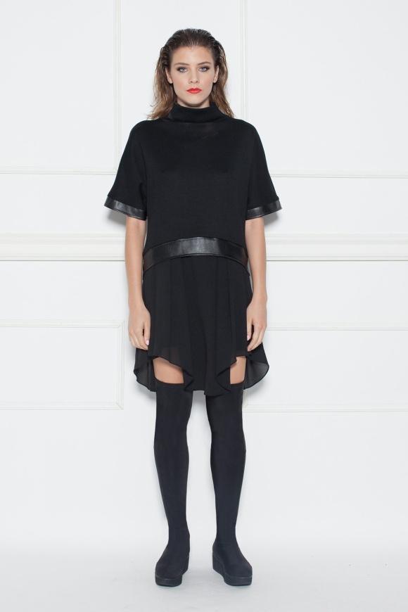 Asymmetric day dress