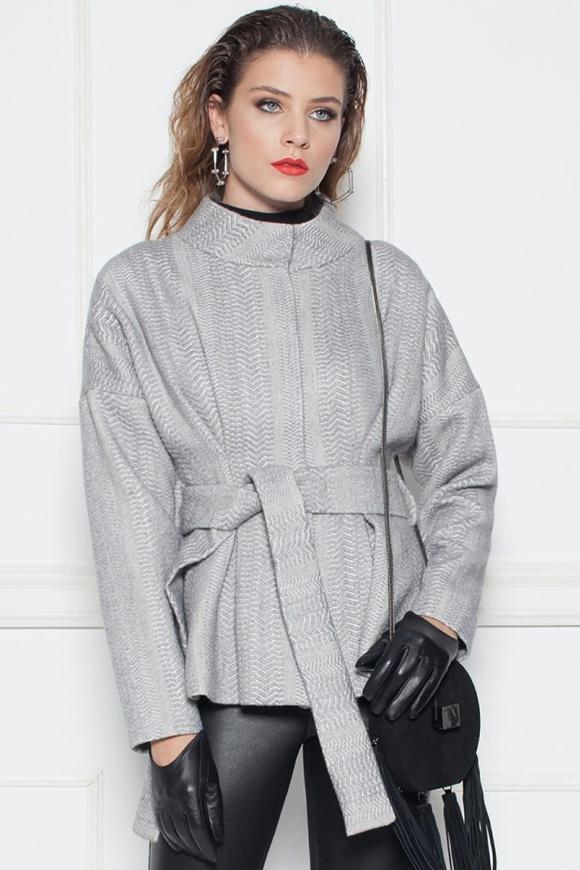 Jachetă gri eleganta