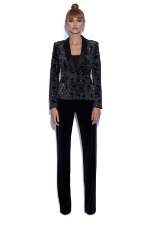 Velvets suit jacket with metallic fiber