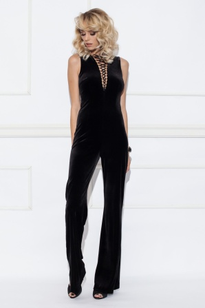 Velvet black jumpsuit