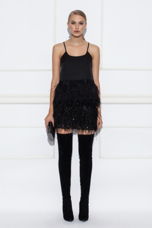 Ostrich feathers black skirt