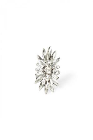 Inel argintiu in forma de floare
