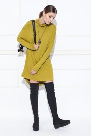 Loose asymmetric day dress