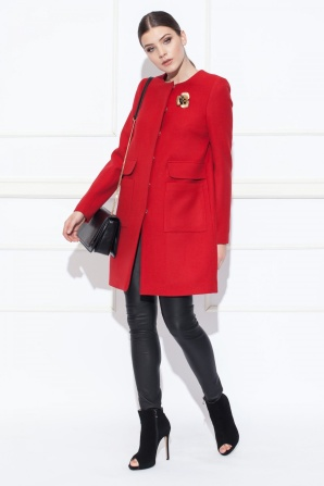 Red elegant coat