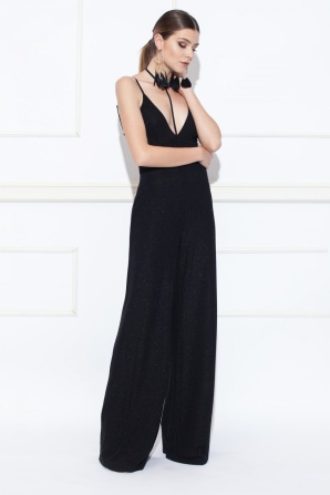 Black jumpsuit with choker detail