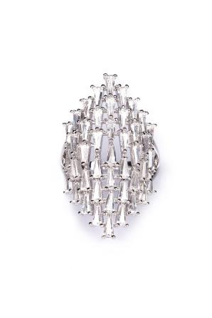 Inel argintiu cu pietricele din sticla
